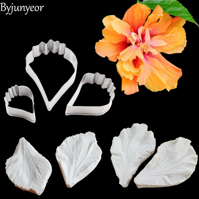 Us 372 38 Offhibiscus Flower Silicone Mold Fondant Mould Cake Decorating Tools Chocolate Gumpaste Mold Sugarcraft Kitchen Accessories Cs275 In