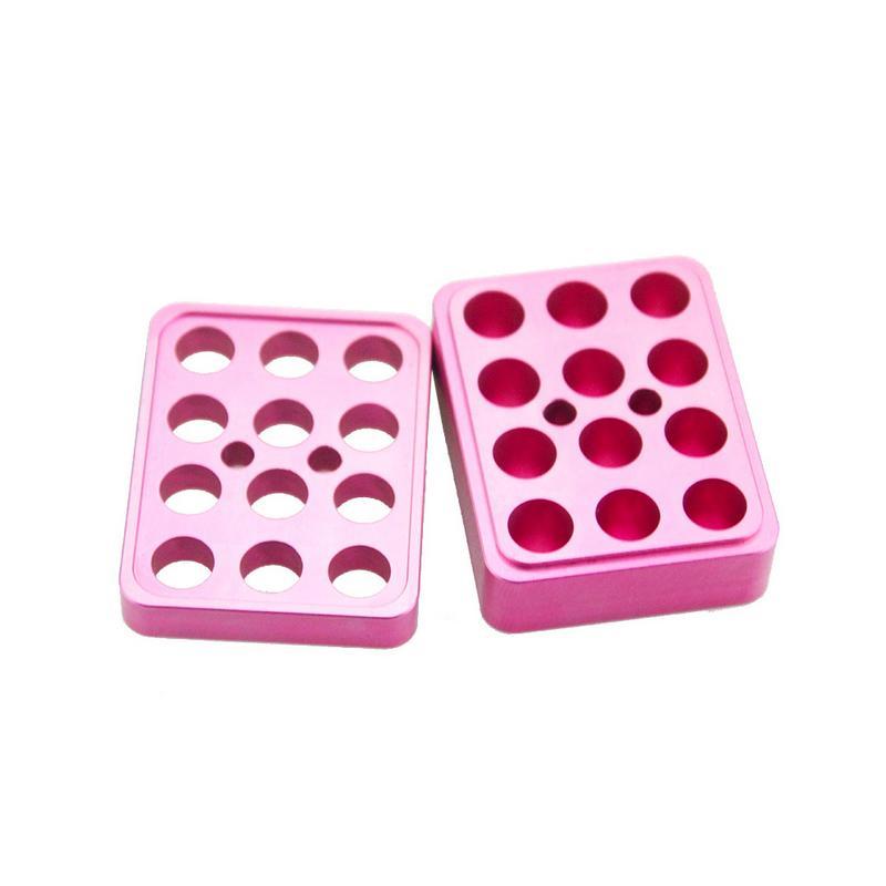 New Arrive Small Durable Convenient Aluminum Alloy DIY Lipstick Mould 12 Holes 9.3mm Lipstick Mold
