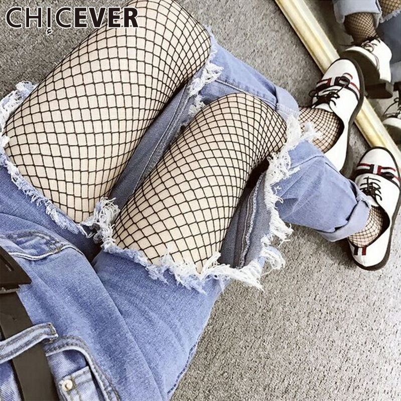 CHICEVER Women Grils Mesh Tights Stockings Pantyhose in a grid Female Fishnet Pants Sexy Yarn Erotic Clothes Summer|stockings pantyhose|tights stockingmesh tights - AliExpress