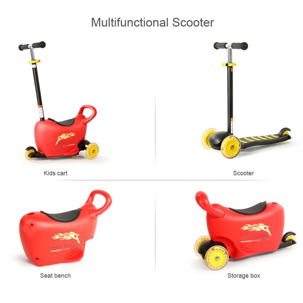Многофункциональный скутер 4 в 1 детей скутер Мода для детей с светодио дный вспышки Открытый Инструменты весело спортивные подарки на Рожд