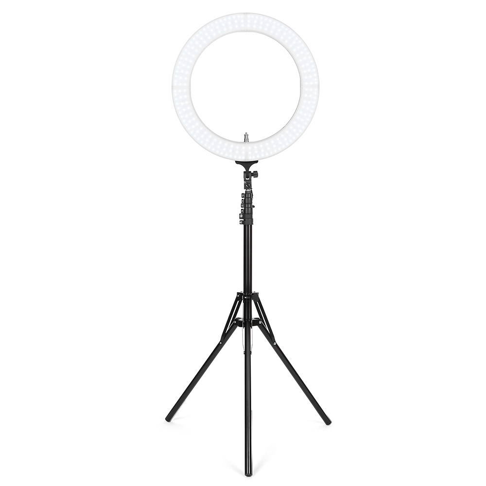 Portable 18 Inch Outer Dimmable LED Ring Light For Camera Smartphone Adjustable Brightness Professional Lighting