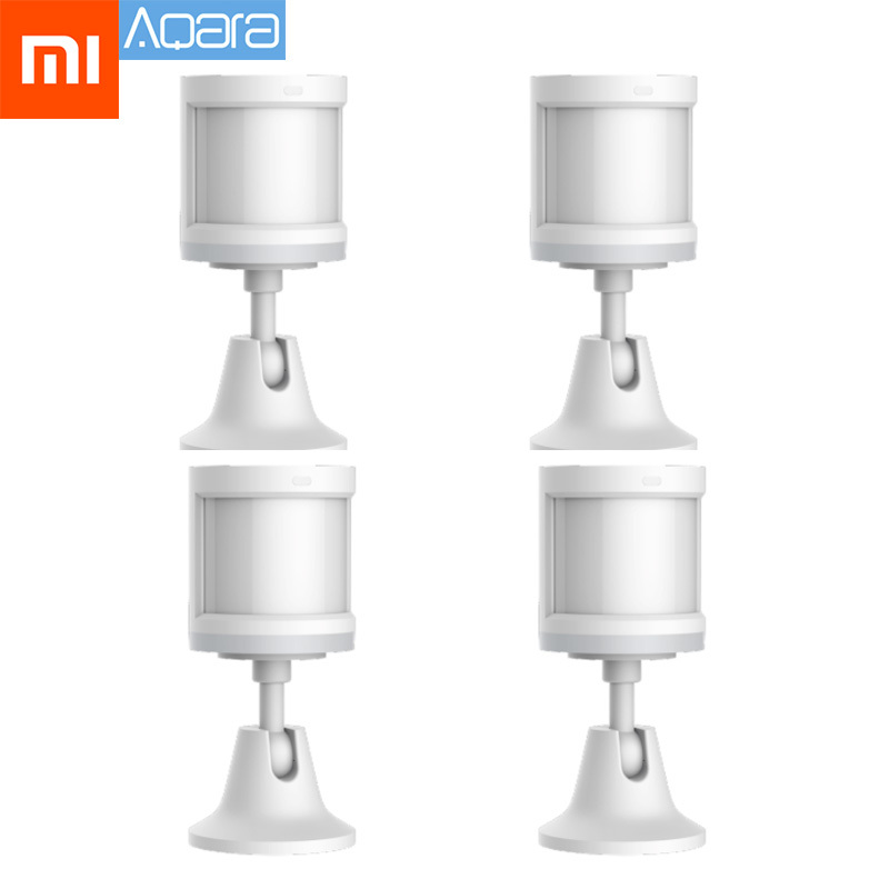 100% Original Xiaomi Aqara Smart Human Body Sensor Zigbee Wireless Connection Built In Light Intensity Sensors Work App Control
