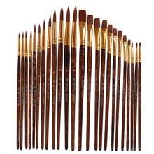 Pen-Brushes Watercolor-Pen-Model Number Craft Art-Supplies Paint Artist by Nylon 12pcs