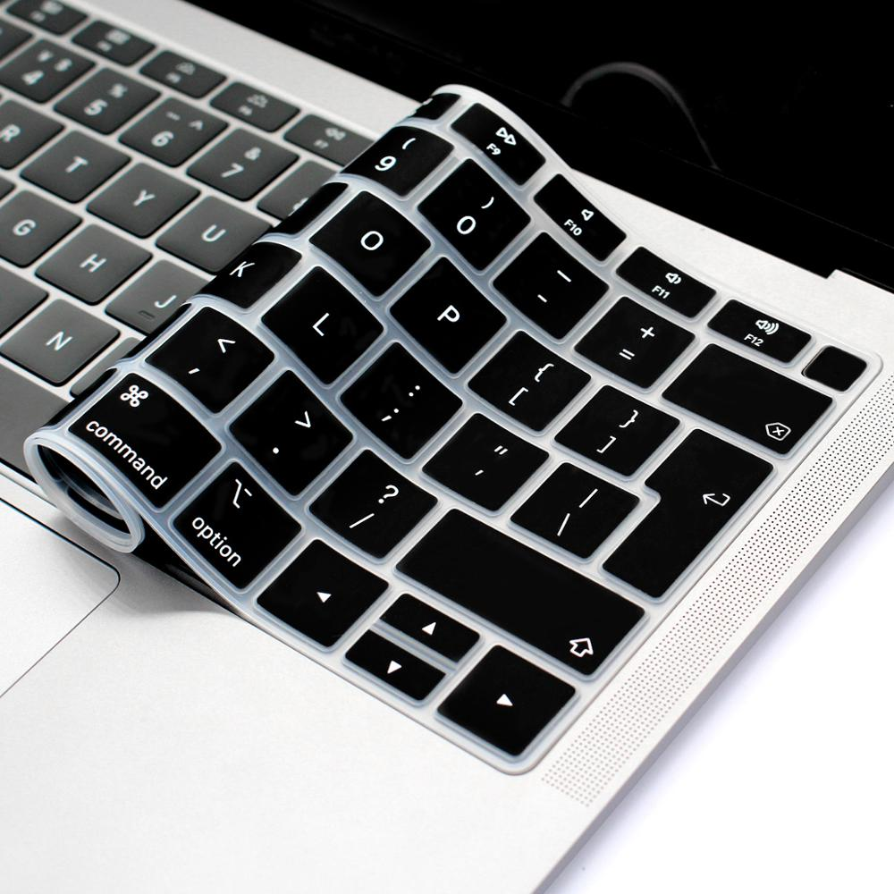 for A1932 Laptop Keyboard Protective Film Waterproof for MacBook Air 13 Inch Notebook Keyboard Cover U.S Edition-Lake Blue