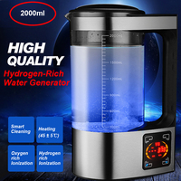 2000ml Big Capacity Hydrogen Rich Water Bottle Kettle Generator Hydrogen Water Ionizer