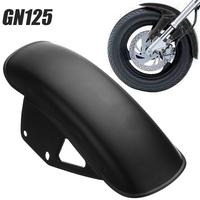 Mayitr 1pc Black Metal Motorcycle Front Fender Dedicated Replacement Mudguard Mud Guard For Suzuki GN125 GN250