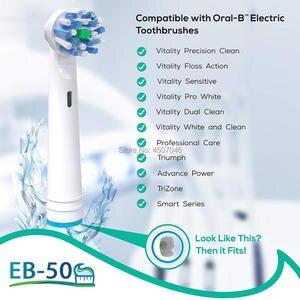 Image 2 - 40PCS spazzolino da denti Elettrico teste Compatibile per Braun Oral b Spazzola di Ricambio Teste per Oral B Spazzolino Da Denti Vitalità doppio Clean
