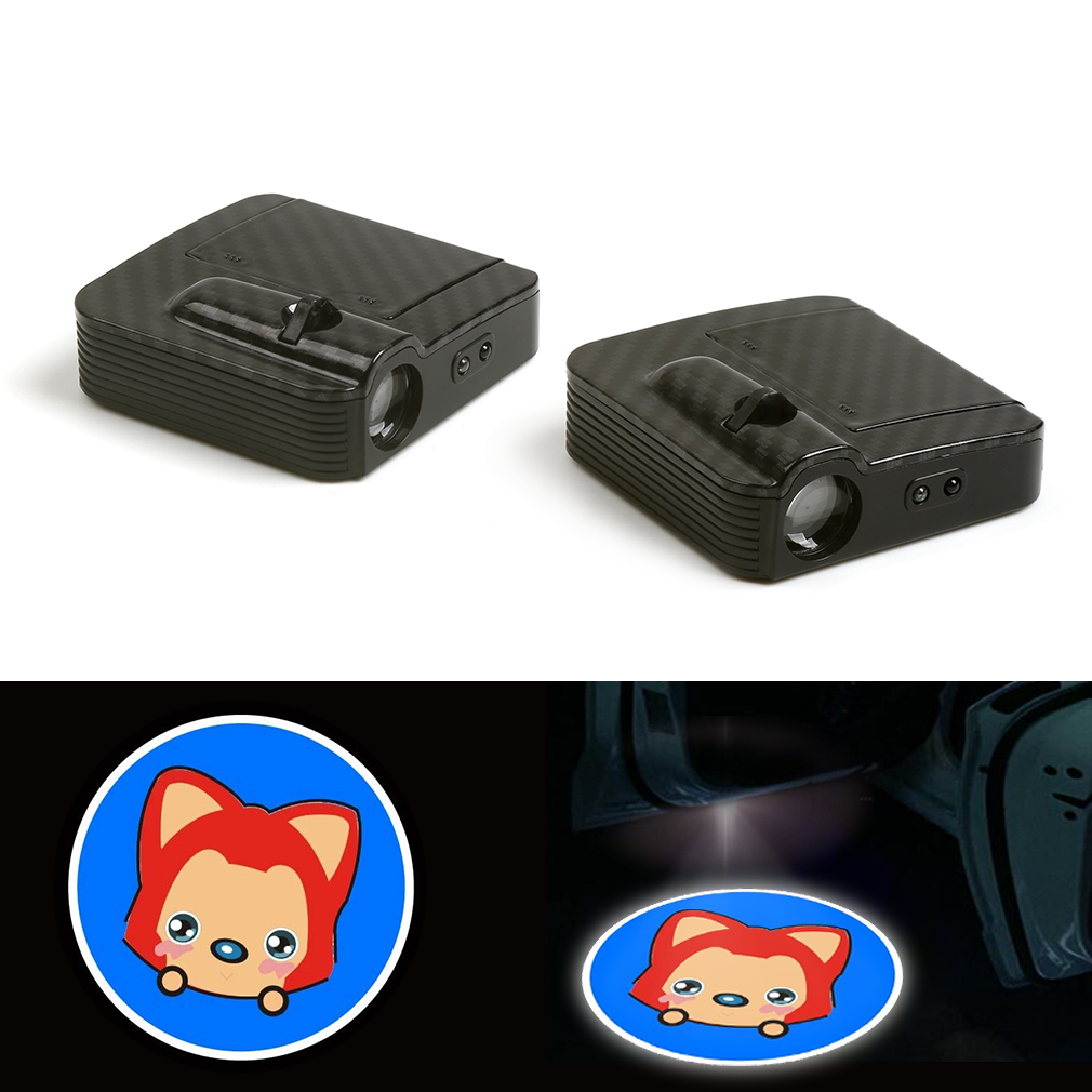 Wireless Courtesy Welcome Car door Light Logo Shadow Projector cartoon 12V in Decorative Lamp from Automobiles Motorcycles