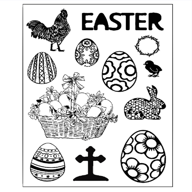 Easter Paint Eggs Stamp Frame 11*16cm 2019 Cutting Dies 3D DIY Scrapbooking & Stamping Rubber Sharp Craft Photo Gift Card Decor