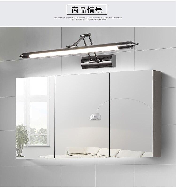 Europeu espelho espelho do banheiro conduziu a luz do farol lâmpada retrátil lâmpada de parede pia do banheiro maquiagem CL0420 arandelas de parede lâmpada - 6