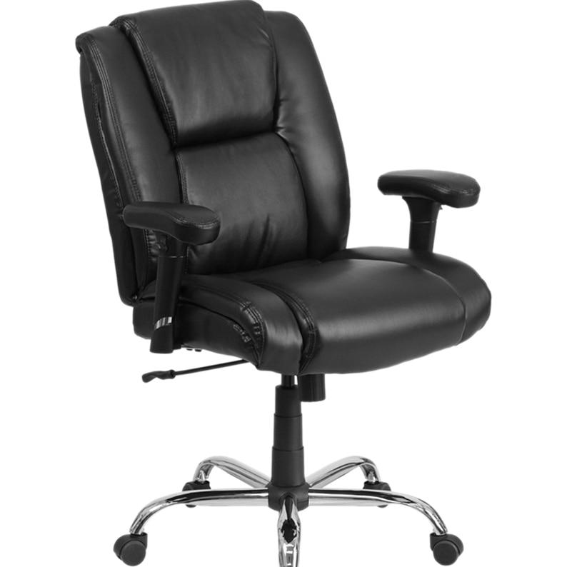 Flash Furniture HERCULES Series Big and Tall Black Leather ...