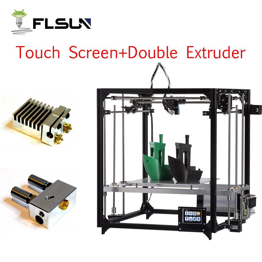 2018 Flsun 3d принтер большая площадь печати автоматическое выравнивание алюминиевая рама 3d Принтер Комплект принтер 3d с подогревом кровать
