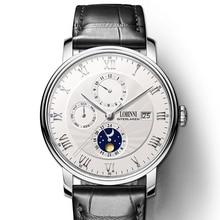 سويسرا LOBINNI الرجال الساعات الفاخرة العلامة التجارية ساعة معصم النورس ساعة الرجال السيارات الميكانيكية الياقوت relogio masculino L1023 2