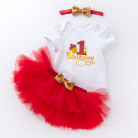 My Little Girl 1st Birthday Party Sets Baby Tutu Dress Infant Newborn for Bebe Outfits Sets First Christmas Gift Baptism Clothes