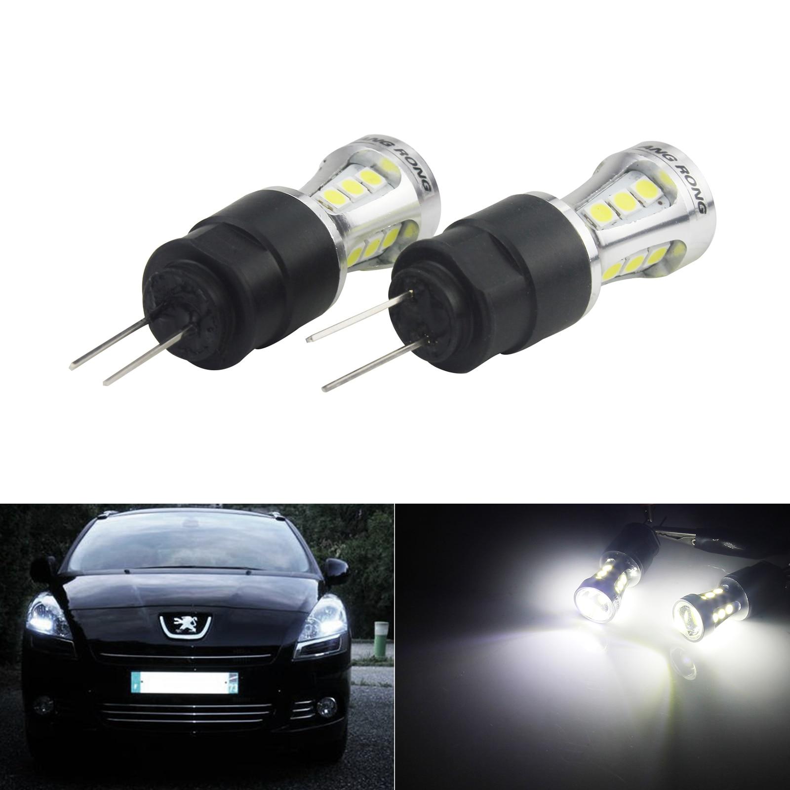 ANGRONG 2x HP24W HPY24W G4 18 SMD светодиодные лампы дневного света для Peugeot 3008 5008 Citron C5 белый 6000K