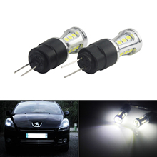 Angrong 2x HP24W HPY24W G4 18 Smd Led Sidelight Dagrijverlichting Lampen Voor Peugeot 3008 5008 Citron C5 Wit 6000K