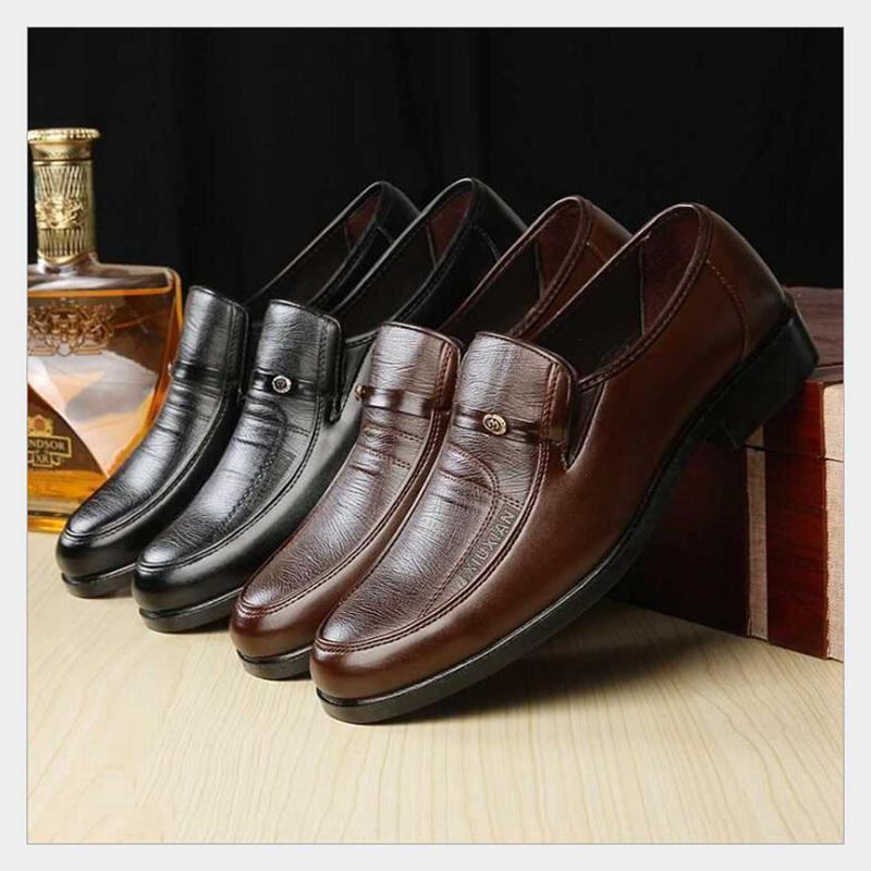 Edad Temporada Zapatos Antideslizantes De Mediana Los Bajo Primavera Hombres Otoño Tacón Casuales brown La Moda Black Papá Y AOAUq