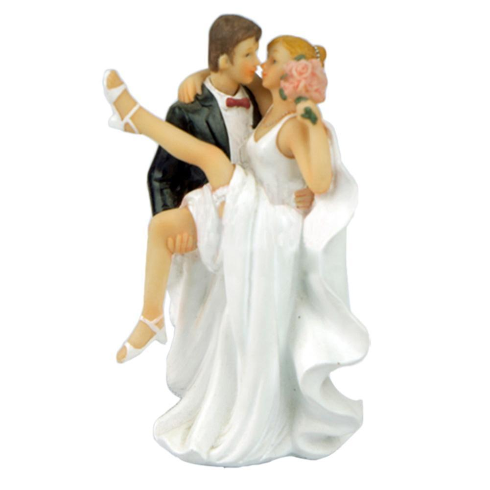Adeeing 1pcs Wedding Cake Toppers Bride And Groom Figurines Resin White Stand Topper Accessories Casamento Decoration New Year