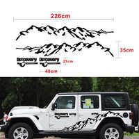 New Black Mountain Styling Car Door Side Decor Sticker Auto Body Stickers Vinyl Decal Auto stikers