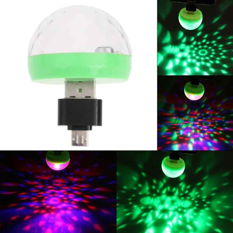 Mini USB LED Party Licht Musik Magic Ball Lichter Farbe Ändern mit Musik DJ Licht Bühne Weihnachten Party Dekoration Bühne lampe