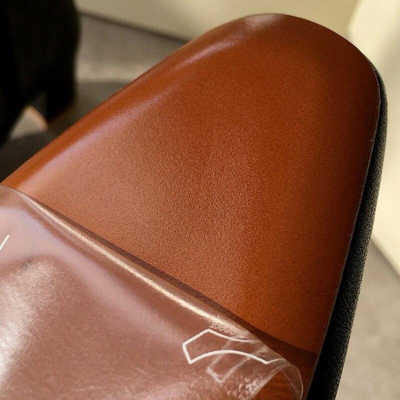Coarse Short Square Comfortable Genuine Leather Woman Single Winter Women Boots недорого
