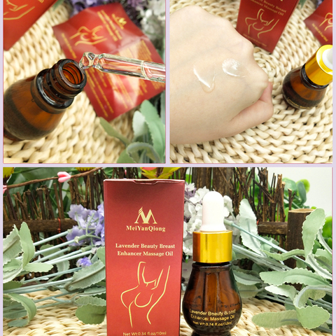 MeiYanQiong Natural Plant Breast Plump Essential Oil Breast Enhancer Treatment Massage Oil Lavender Breast Growth Essence TSLM1 Islamabad