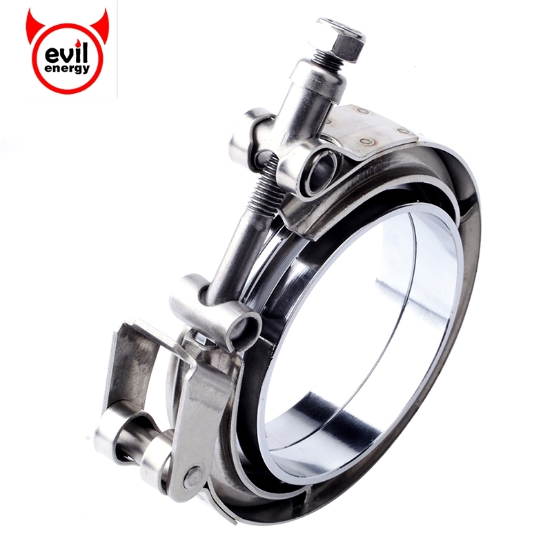 EVIL ENERGY 3 Inch Stainless Steel Exhaust V Band Clamp Quick Release Mild Steel Male Female Flange
