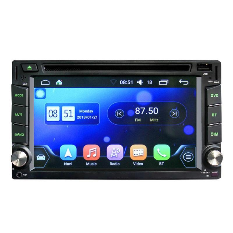 VODOOL 6.2in écran tactile multi-langues GPS Navigation caméra Bluetooth WiFi Android voiture stéréo Audio USB Auto MP5 lecteur nouveau