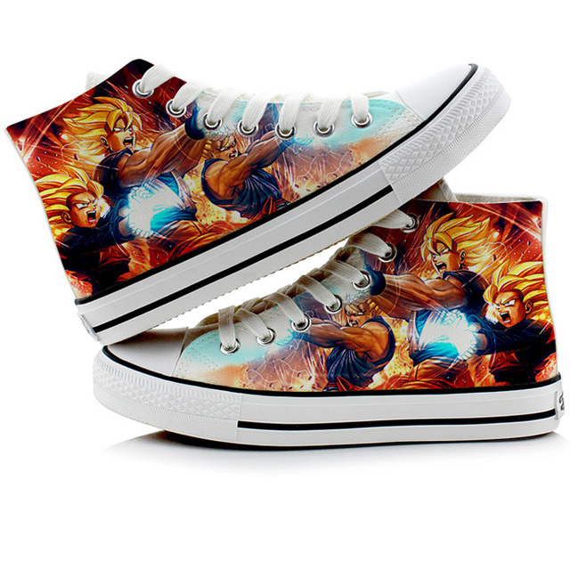 3D DRAGON BALL HIGH TOP SHOES (3 VARIAN)