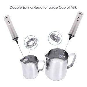 Image 4 - REELANX elektrikli süt köpürtücü şarj edilebilir süt köpürtücü Cappuccino kahve köpük yumurta çırpıcı
