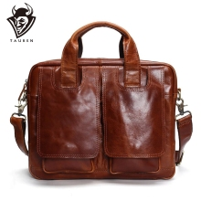 Tauren Genuine Leather Bag Men Messenger Bags Handbag Briescase Business Shoulder High Quality 2019 Crossbody