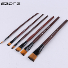 EZOME 6 PCS Cherry Blossom Paint Brush Nylon Hair Wood Handel Different Size Brushes For Wateri Oil Gouache Acrylic Painting
