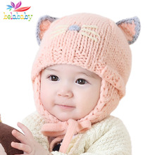 2019 Winter Hat For Newbron Baby Warm Knitted Beanie For Kids Autumn Toddler Inf