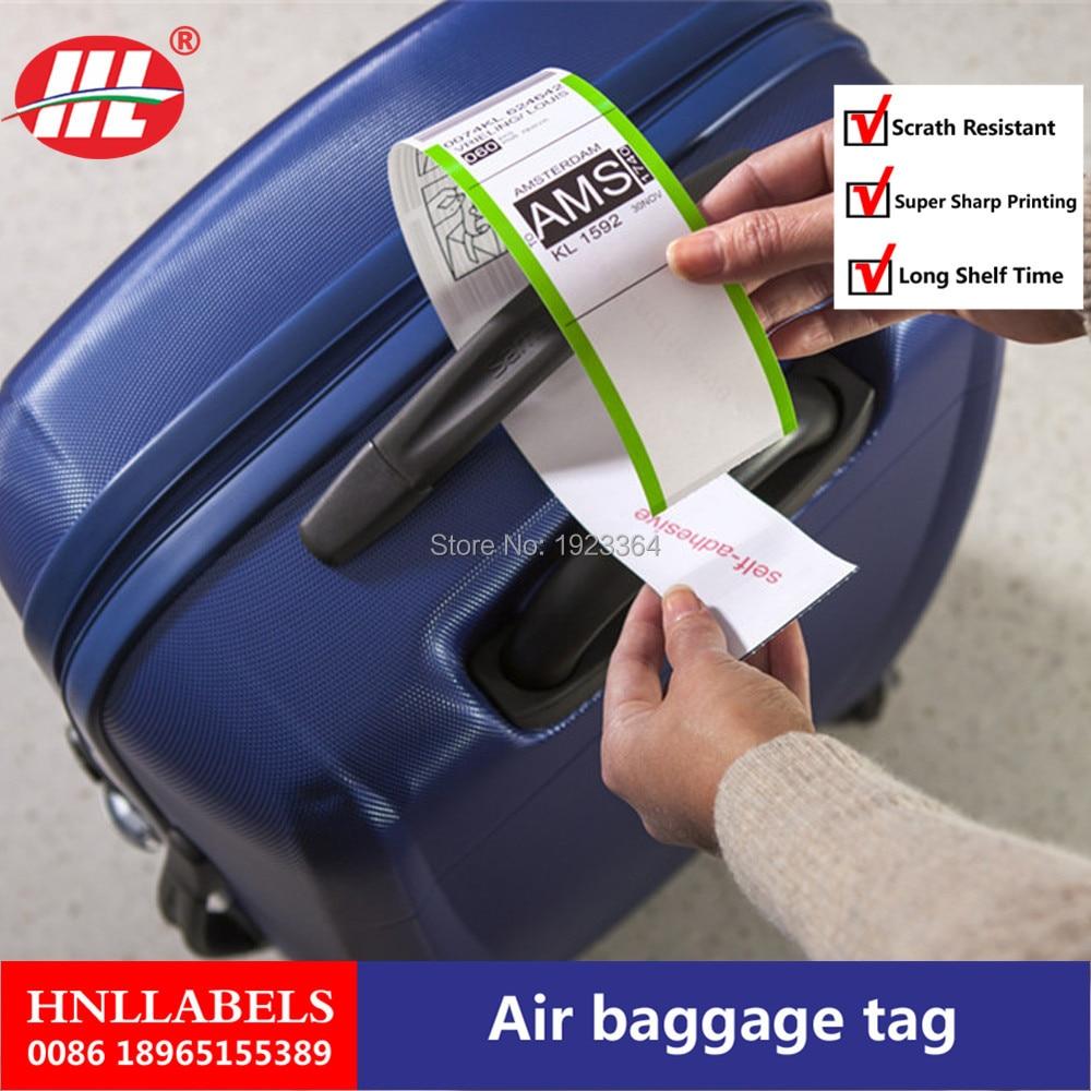 Купить с кэшбэком China Manufacturer Supply Custom Printed Thermal Baggage Tag