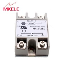 цена на Hot SSR-25DA DC To AC Covered Solid State Module Relay DC 3-32V AC 24-380V Som Automotivo