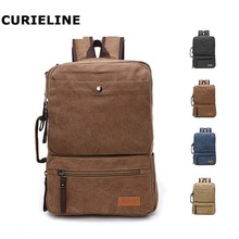 fashion convertible backpack shoulder bag capacity canvas laptop