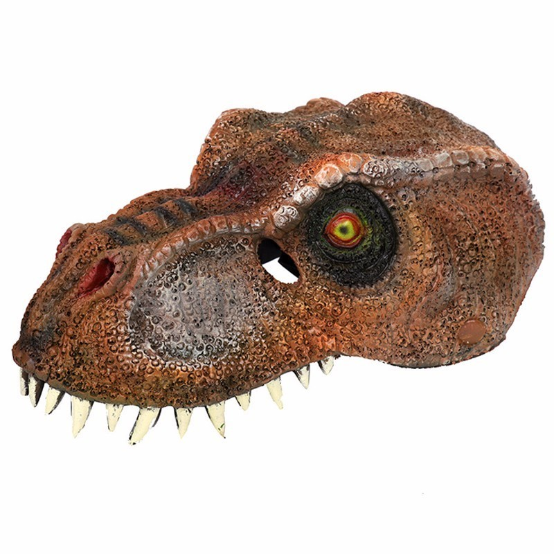 Halloween Mardi Gras Jurassic World Soft PU Foam 3D Horror Dinosaur Mask Supplies Adult Masquerade Party Animal Cosplay Mask