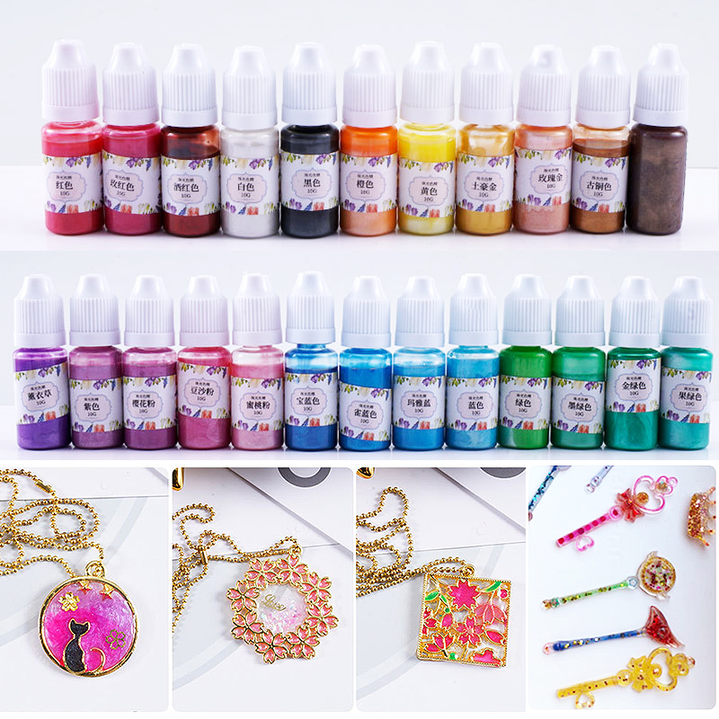 Crafts  UV  DIY  10g/Bottle  Pigment  Epoxy  Coloring Resin  Dye  Handmade  Art   Colorant