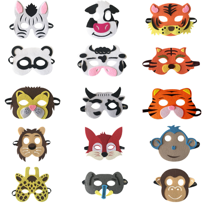 1 pcs Creative Safari Jungle Animal Eye Masks Children Animal Masks Kids Birthday Party Cosplay Mask Children Halloween Dress Up toy story bunny toys