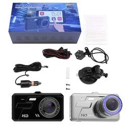 T681 сенсорный экран 4 дюймов HD ночное видение мини регистратор данных автомобиля камера регистраторы 1080 P широкий угол обзора