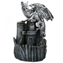 Dinosaur Backflow Incense Burne Holder Smoke Waterfall Burner Dragon Ceramic Aromatherapy Censer Road