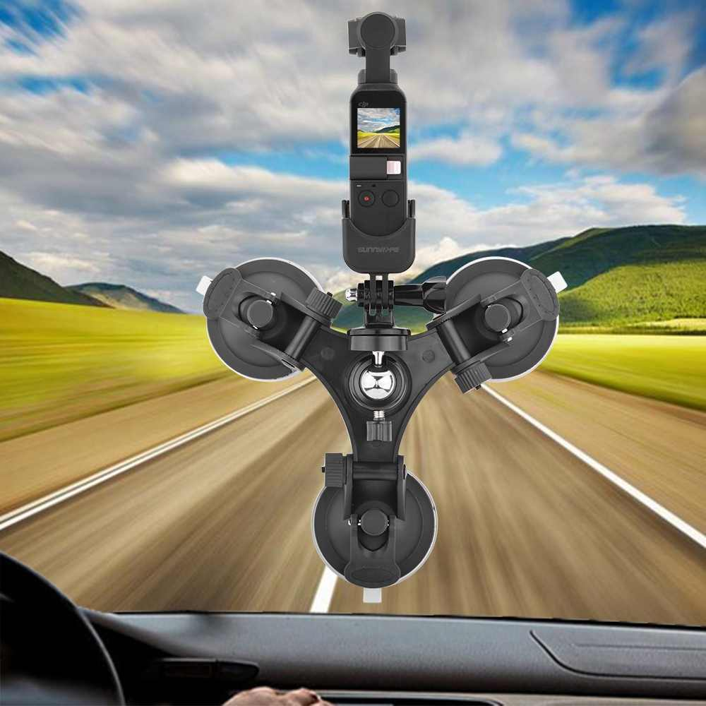 Sunnylife присоска автомобильный держатель крепление для Dji Osmo Карманный автомобильный стеклянный присоска держатель для вождения рекордер штативы для Dji Osmo Pocke