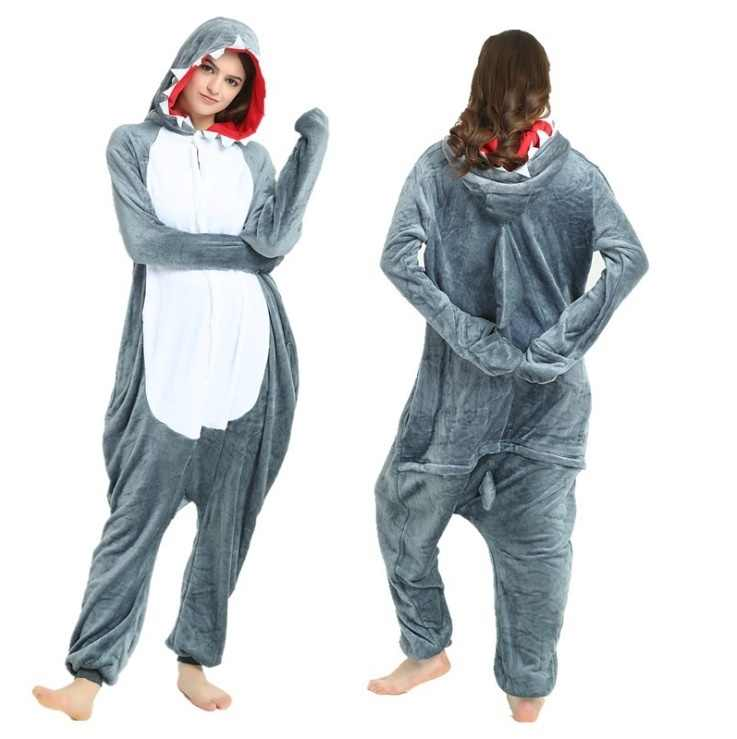 9612b9617092 Detail Feedback Questions about Grey Shark Onesies Adult Pajamas New ...