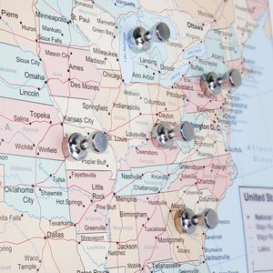 Image 4 - New 푸시 핀 20 팩, 실버 자석, 브러시 처리 된 니켈 푸시 핀 냉장고, 화이트 보드, 지도, 캘린더 및 M 용 강력한 자석