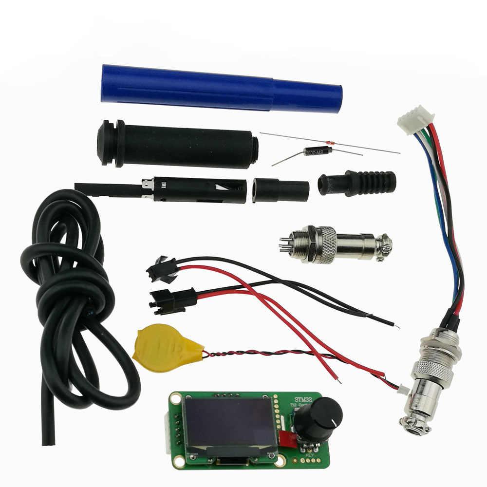 KSGER V2.1S STM32 OLED 1,3 Größe Bildschirm T12 Digitale Temperatur Batterie Controller 5 Core Silikon Draht 9501 Löten Griff Set