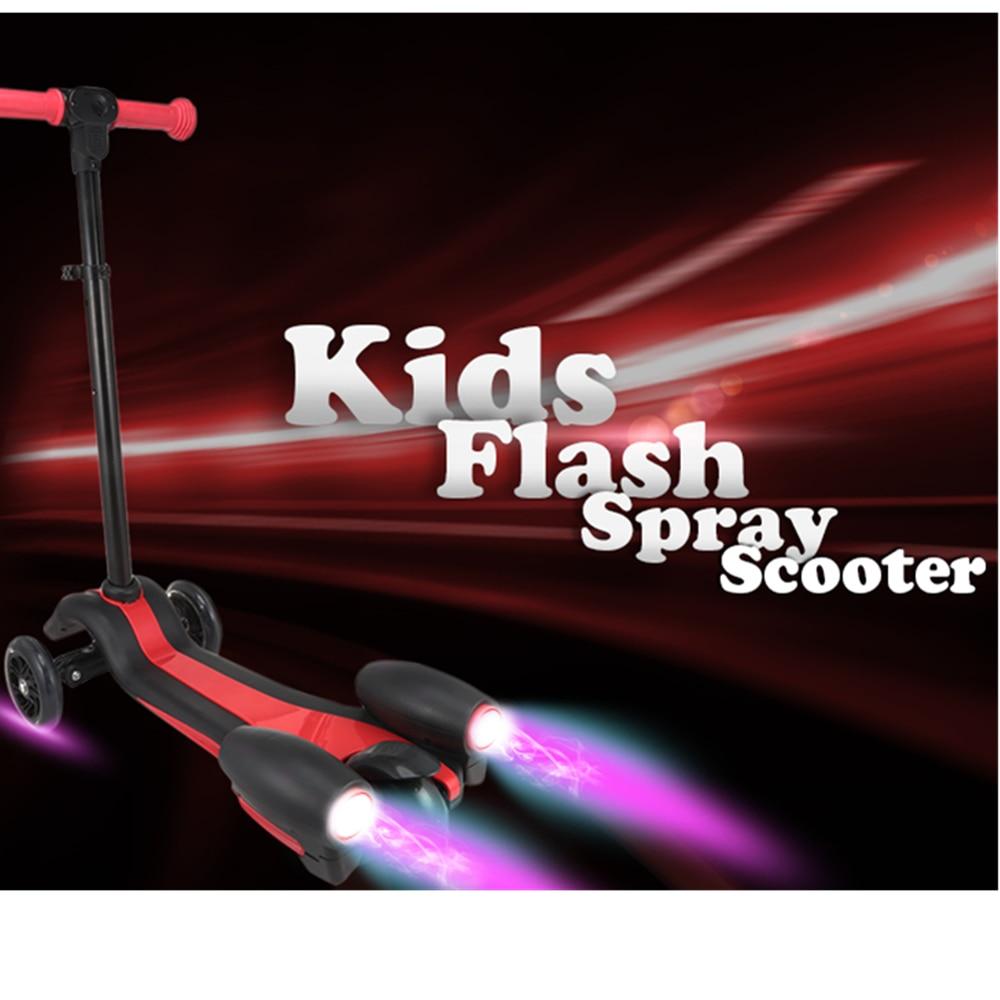 Enfants créatifs enfants Flash Spray Scooter avec poignée réglable monter sur les voitures sport jouet enfant Skateboard Scooter électrique - 2