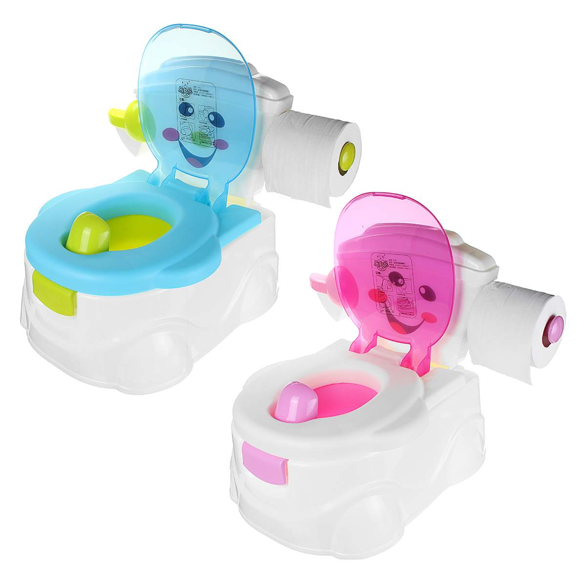 2 In1 Portable Music Kids Baby Toilet Trainer Child Toddler Potties Training Seat Fun Chair for Boys Girls