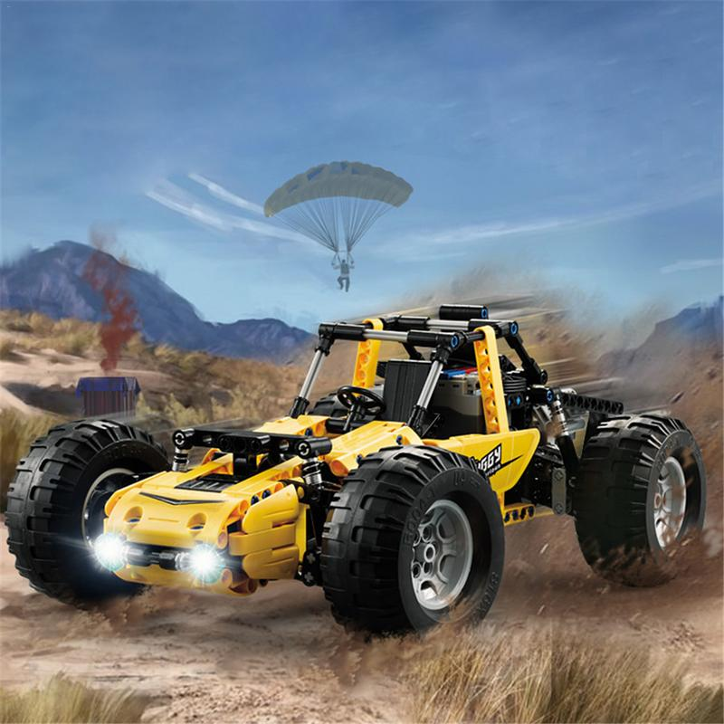 C51043 Children 522PCS Buggy Car Building Blocks Off-Road Climbing RC Car Toy For Children Birthday Gifts