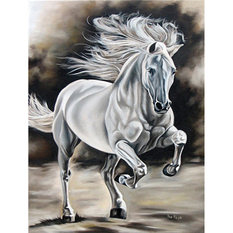 Painting By Picture Numbers Horse Series Handmade Gift DIY Oil Paint By Number Canvas Kits Animal Home Decor
