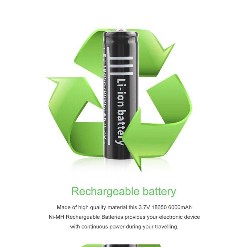 Image 4 - 3,7 V 6000Mah 18650 литий ионная аккумуляторная полимерная литиевая батарея для фонарика-in Аккумуляторы from Бытовая электроника on AliExpress - 11.11_Double 11_Singles' Day